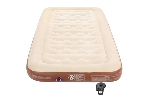 """Single Air Mattress Twin Size, 9"""" Inflatable Mattress Single Height Air Bed with 75W Powerful Rechargeable Battery Air Pump for Camping Truck, Durable..."""