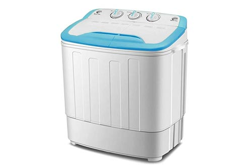 4-EVER Mini, Portable Twin Tub Washer and Spin Dryer Combo,13lbs for Dorms,Apartments, RV's, College Rooms,Camping Spinner Dryer