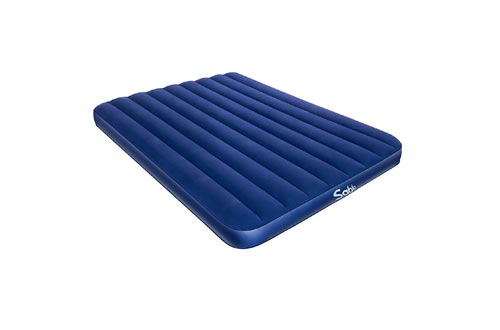 """Sable Camping Air Mattress Queen Size Inflatable Air Bed with Extra Thick Flocked Top & PVC, for Car Tent Camping Hiking Backpacking, Height 8"""""""