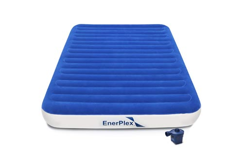 EnerPlex 2019 Camping Luxury Queen Size Air Mattress Camping Queen Airbed with High Speed Wireless Pump Single High Inflatable Blow Up Bed for Home Camping...