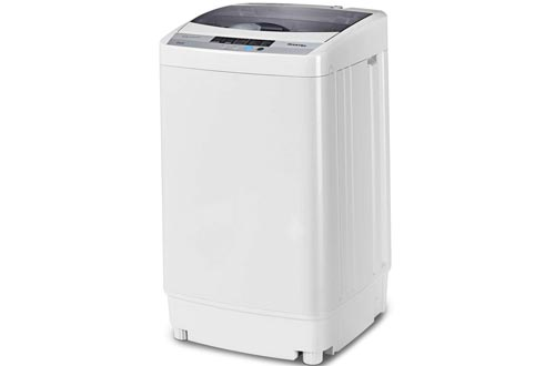 Giantex Full-Automatic Portable Compact 1.6 Cu.ft Laundry Washer Spin with Drain Pump, 10 programs 8 Water Level Selections with LED Display...
